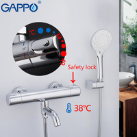 GAPPO thermostatic shower mixers Bathtub Faucet bathroom faucets mixer waterfall faucet bathtub thermostat tap bath shower