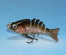 2″ Multi Jointed Fishing Hard Lure Bait Lifelike Mini Swimbait  Crankbait Bass Trout Fishing Lure Fishing Tackle