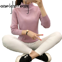 Women S Shirt And Long Sleeved Turtleneck Half Knit Pullover Female Female Loose Short Autumn And