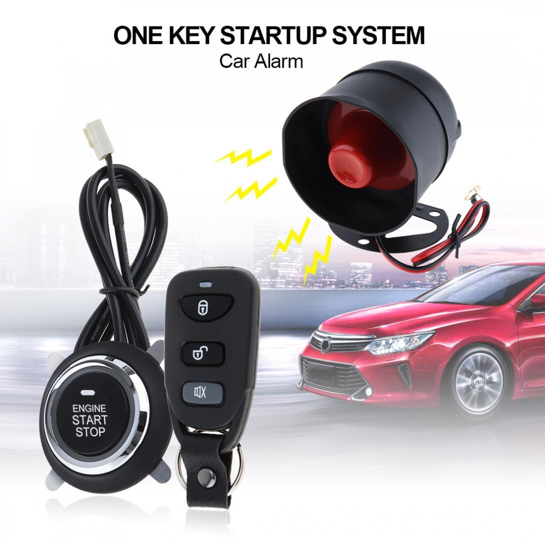 Alarme Auto voiture Kit Central à distance démarrage arrêt système moteur verrouillage Central véhicule sans clé entrée 5A avec clé 4 système antivol