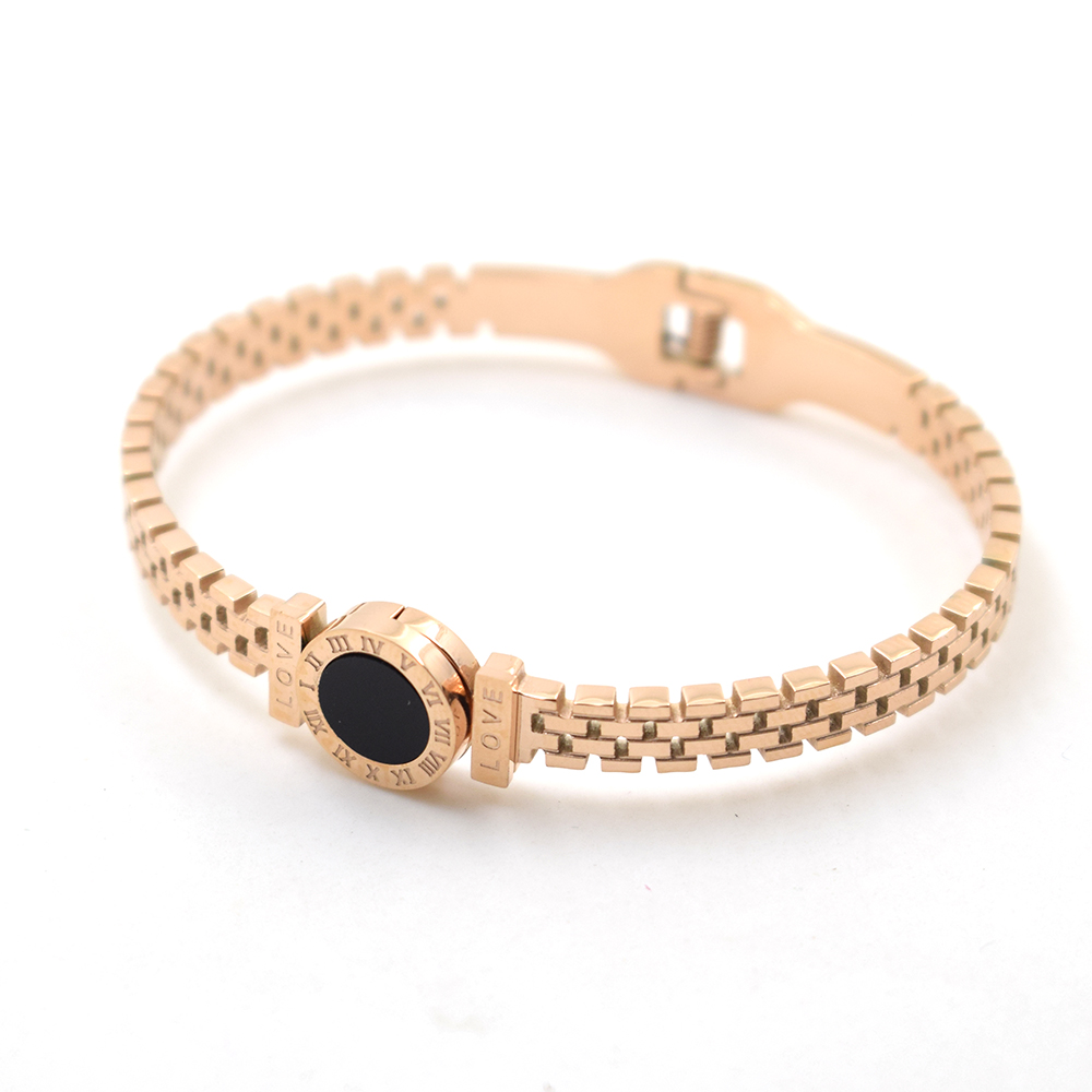 Rose Gold Color Shell Love Roma Time brand Fashion Jewelry Cuff Carter Bracelet Bangles 316L Stainless Steel Bracelets For Women