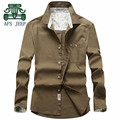 AFS JEEP Full Sleeve 100% Cotton 2016 Fashion Man's Autumn Shirt For Men,Candy Color Original Brand Single Buttons Man's Shirts