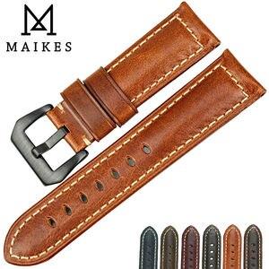 Image 5 - إكسسوارات ساعات اليد الأكثر مبيعًا من MAIKES أسورة ساعة من الجلد الإيطالي العتيق أسورة ساعة بسوار من الجلد