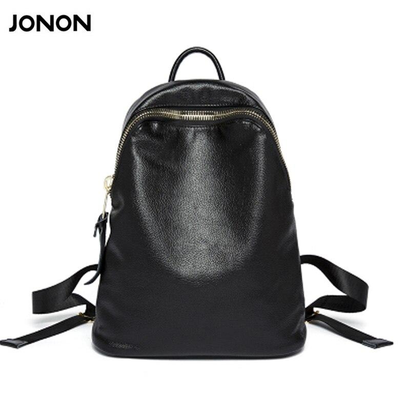 JONON Women Genuine Leather Bag Brand Backpacks Famous Designer Cow Leather School Bag For Teenager Girls