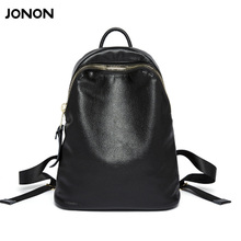 Jonon женщины натуральной кожи сумка марка рюкзаки известный дизайнер кожа коровы мешок школы для девочек-подростков рюкзак путешествия