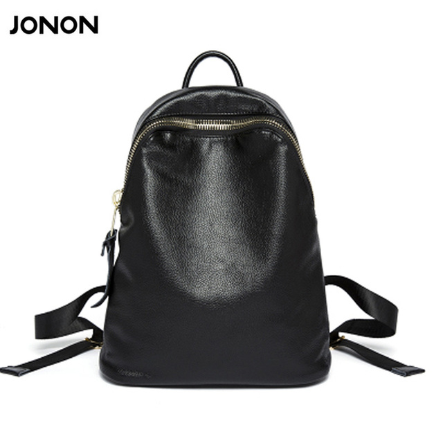 c67cac23e3 JONON Women Genuine Leather Bag Brand Backpacks Famous Designer Cow Leather  School Bag For Teenager Girls Travel Backpack