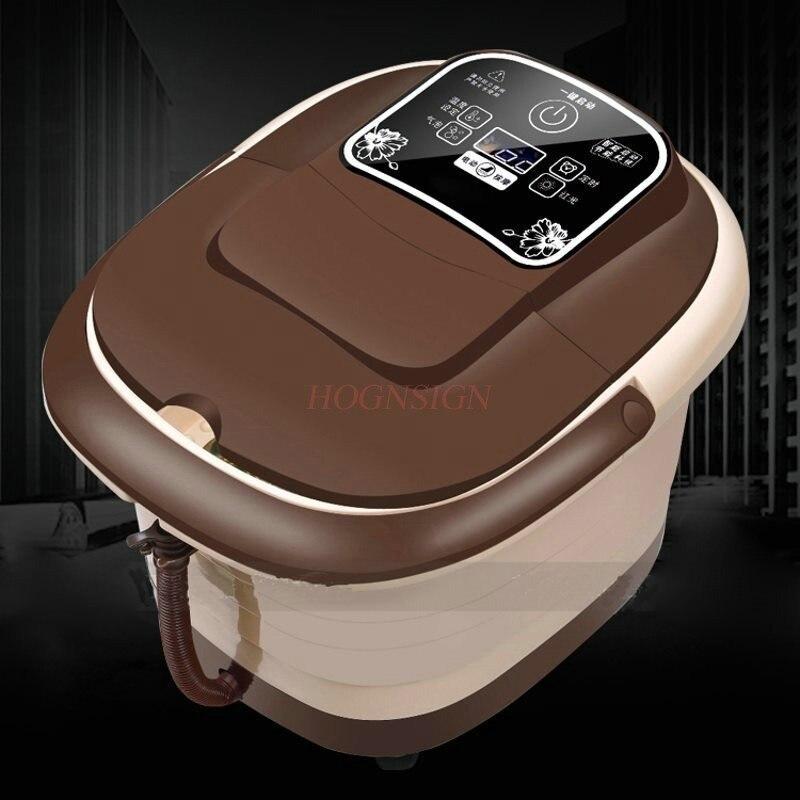 все цены на Electric Feet Cleansing Foot Bath Automatic Massager Electronic Massage Thermostatic Footbath Soaking Basin Plantar Wash онлайн