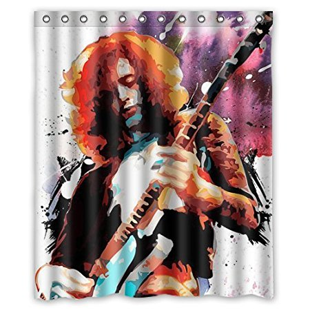 aliexpresscom buy christmas decorations for home led zeppelin 160x180cm waterproof fabric bathroom shower curtain from reliable shower curtains suppliers - Led Zeppelin Christmas