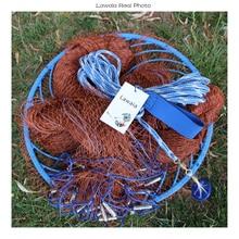 Lawaia Old Salt Cast Net Throw Frisbee Net tire Line Rotary Fishing Network Diameter 3m-9m Hand Fishing Net Tool With Frisbee