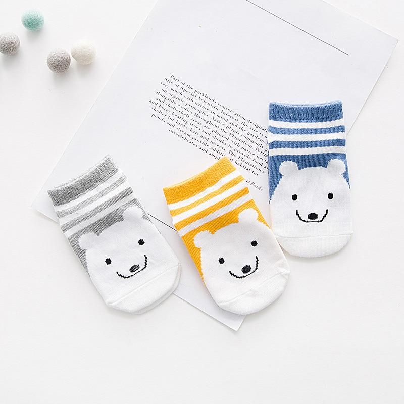 Clearance!!!3 Pairs Cartoon Baby Socks Cotton Fashion Boys Girls Sock Cute Toddler Kids Socks S,M,L 2019 Summer Socks 1-10Y