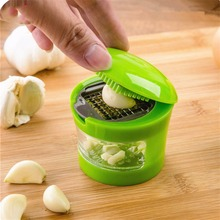 Plastic Stainless Steel Garlic Press Grater Mincer Hand Presser Garlic Grinder Dicer Home Kitchen Cooking Tools Accessories eco friendly plastic garlic cutter presser