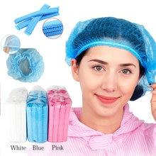 100 sztuk jednorazowe Microblading przeciwkurzowe włókniny włosów czapki stałe akcesoria do makijażu dla Microblading tatuaż brwi