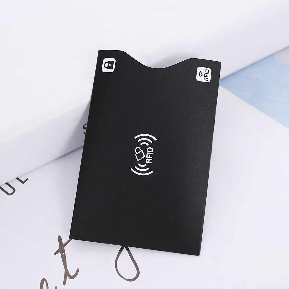 2PCS Black/white Aluminium Anti Paper Rfid Blocking Holder Safety Reader Case Smart Credit Cards Bank Card Protect
