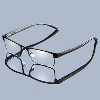 Handoer mężczyźni stopu tytanu okulary do czytania asferyczna 12 warstwy powlekane soczewki Retro biznes nadwzroczność okulary korekcyjne tanie i dobre opinie Antyrefleksyjną Unisex WOMEN Jasne Cr-39 3 0cm 5 3cm 070 Optical Reading Eyeglasses Frame for Men and Women