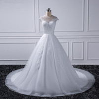 2018 Princess Plus Size Wedding Dresses 2016 Bride Gown Ivory Lace White Vestido De Noiva Vintage Casamento china online store