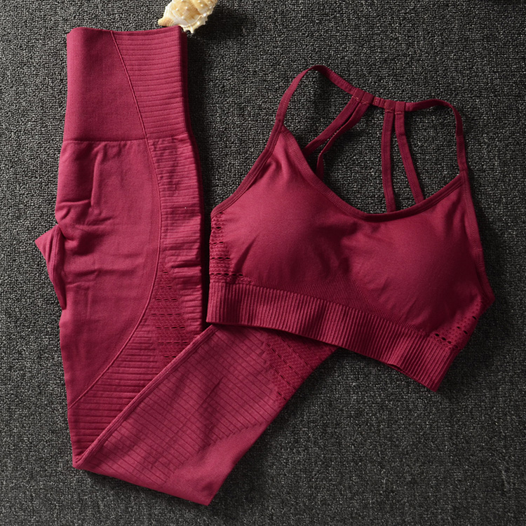 4efffc3c157 Gym 2 Piece Set Workout Clothes for Women Sports Bra and Leggings Set  Sports Wear for Women Gym Clothing Athletic Yoga Set