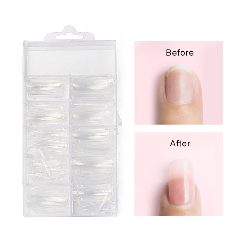 Vrenmol 100pcs Poly Gel French False Nail Tips Artificial Fake Nails Art Acrylic Manicure Tools For UV Polish In From Beauty Health On