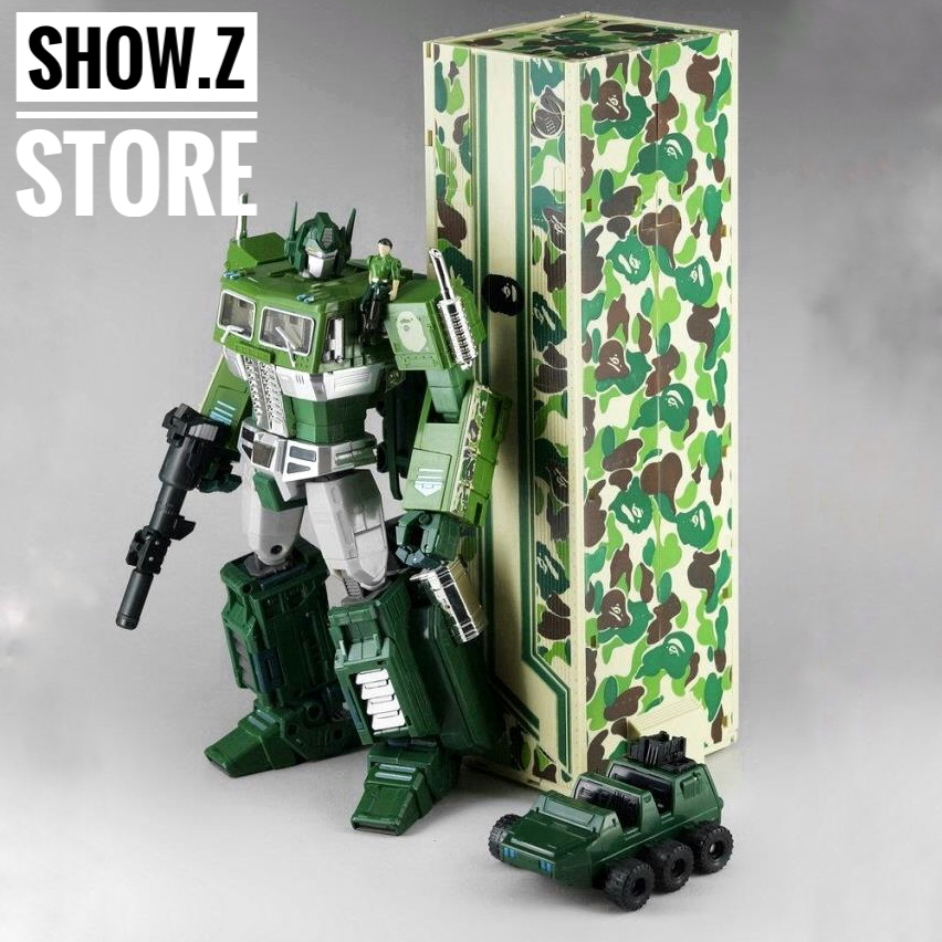 [Show.Z Store] 4th Party MP10A OP Convoy Bape Green Camo Version Transformation Action Figure lacywear s 69 iwa