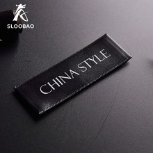 Free shipping 200pcs/lot Custom single satin ribbon fabric print sewing tags for cloth label custom logo printed clothing
