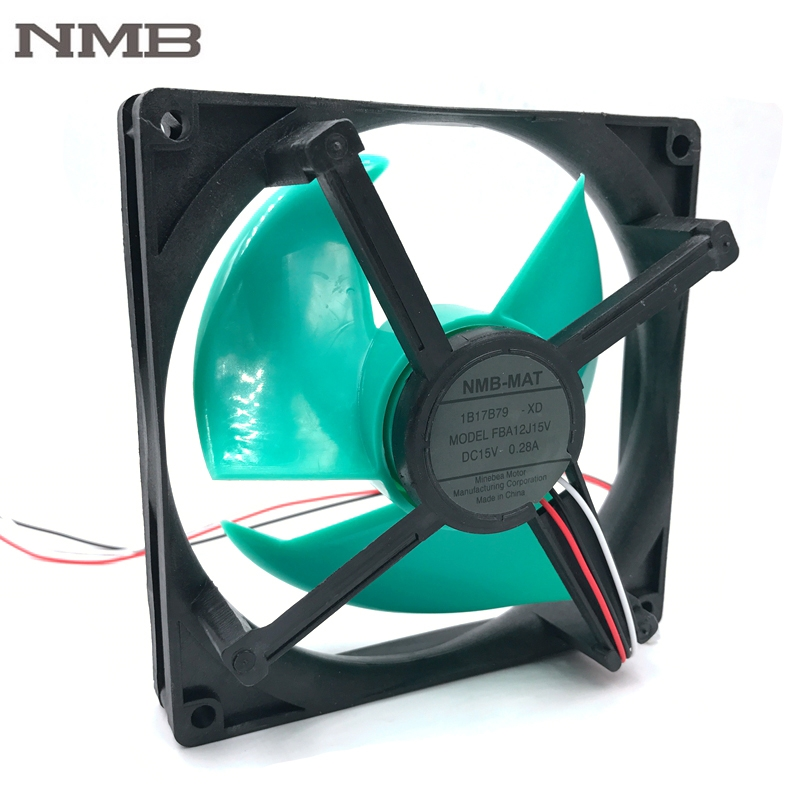 NMB  FBA12J15V  original 15V 0.28A refrigerator cooling fan original nmb refrigerators for panasonic nr c25vx2 bcd 251wxbc frozen club cooling fan