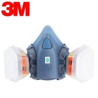 3M 7502 6009 Half Facepiece Reusable Respirator Mask Protection Mask Against Mercury Vapor Chlorine Gas Protective