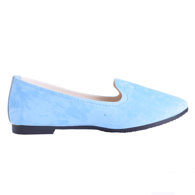 Plus Size Shoes Women Flats Candy Color Woman Loafers Spring Autumn Flat Shoes Women Zapatos Mujer Summer Shoes Size35-43 5