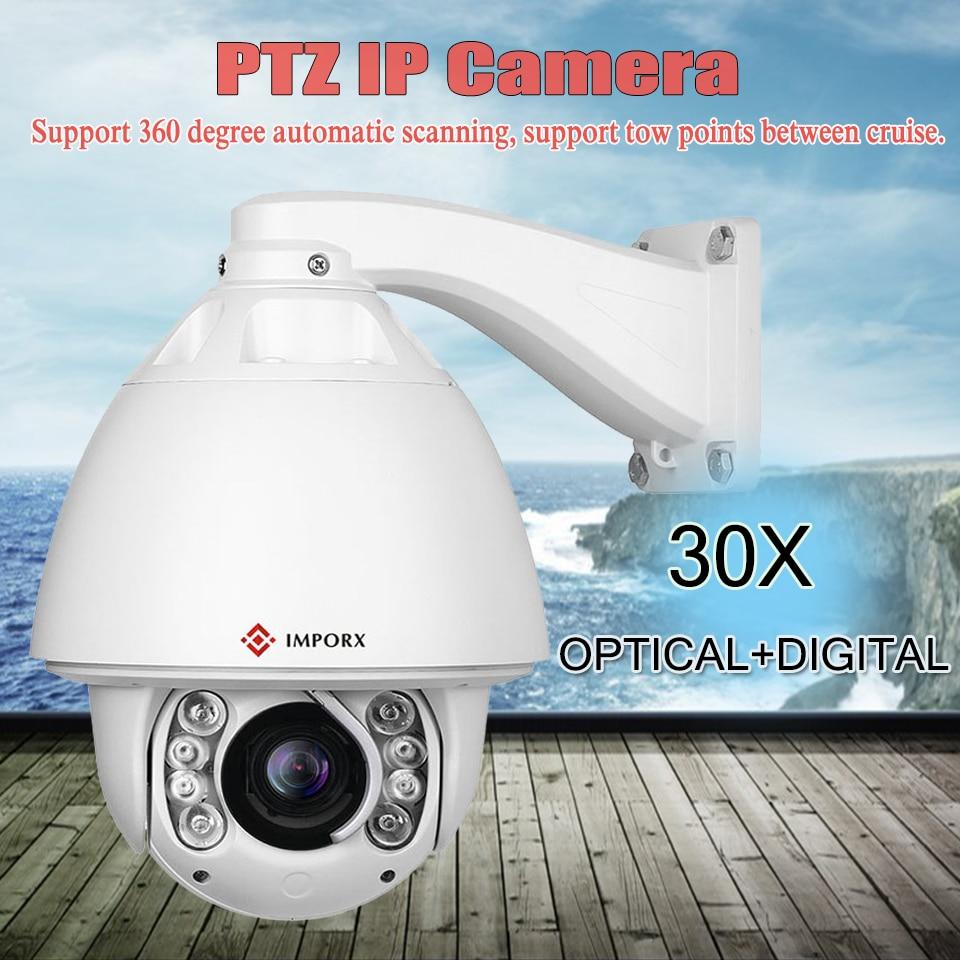 цена на Audio alarm PTZ Camera Network Onvif Speed Dome Camera IR Cut 30X Optical Zoom Auto Tracking p2p cctv camere outdoor