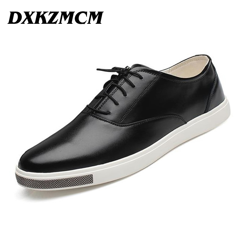 DXKZMCM Handmade Casual Genuine Leather Men Flats, Men Loafers,Men Driving Shoes Men oxfords men s genuine leather casual shoes handmade loafers for male men waterproof flat driving shoes flats