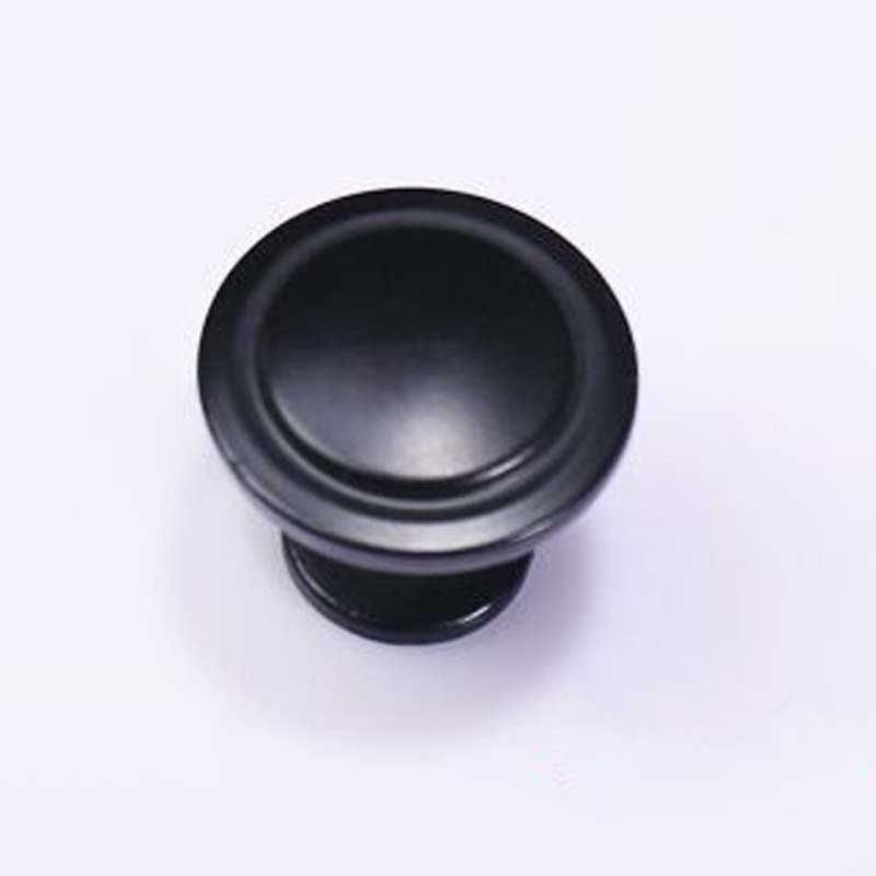 Modern simple Kitchen Cabinet Knobs black Cupboard Pulls 31mm Zinc alloy  Drawer Dresser Wodrobe Furniture Handles Knobs