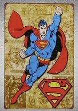 1pc Superman Comic Superhero Avengers Tin Plate Sign wall man cave Decoration Man Art Poster metal vintage