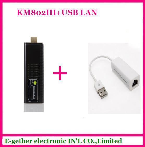 hot sale for Rikomagic MK802 III Dual Core Mini Android 4.1 PC RK3066 1.6Ghz Cortex A9 1GB RAM 8G ROM HDMI [MK802 III+USB LAN]