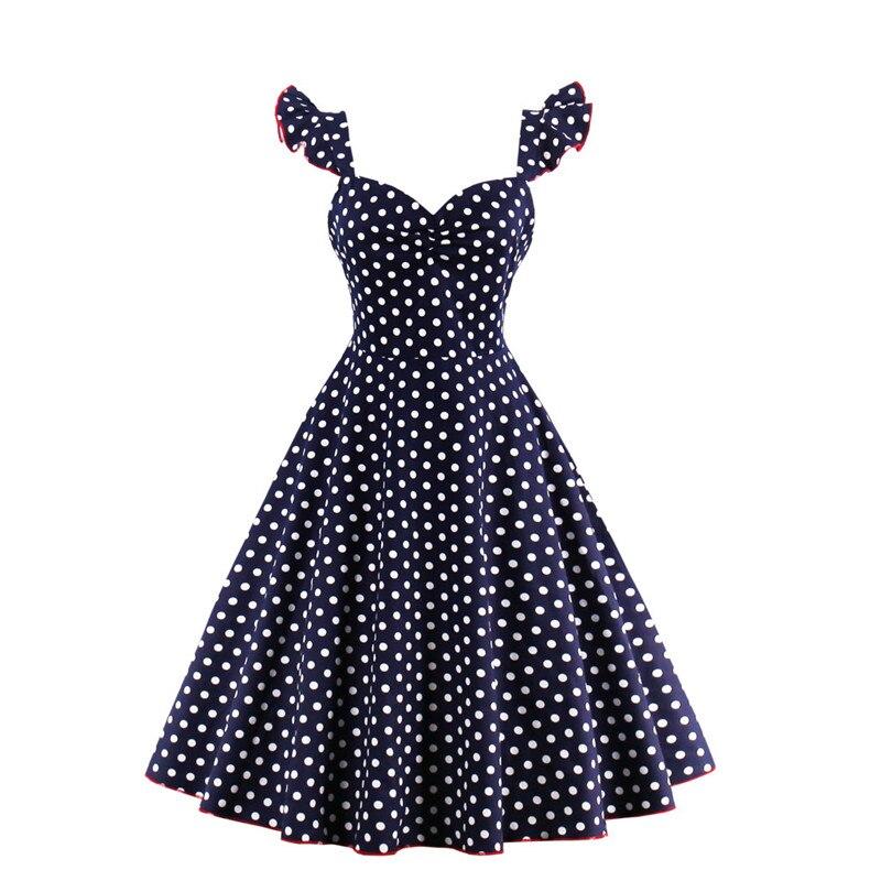 Wedtrend V cuello Abierto Dots Back Zipper Vestidos de Audrey ...