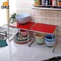 ORZ 2 Adet/takım Kırmızı Demir Tek Dolap Raf Çok Fonksiyonlu Mutfak Banyo Depolama Raf Depolama Raf Organizatör