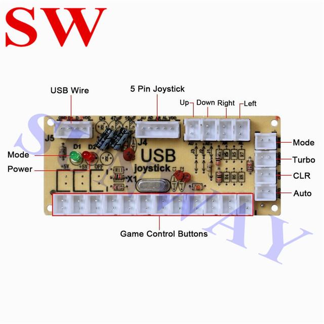 2 Players High Quality Arcade Joystick USB Encoder Arcade DIY Kits With Zippy Joystick Arcade Push Button for Games Jamma Parts