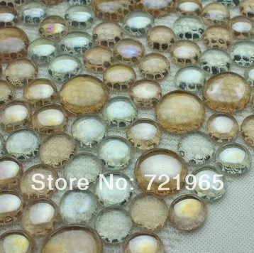 Penny Round Crystal Gl Mosaic Kitchen Backsplash Tile Cgmt214 Bubble Tiles