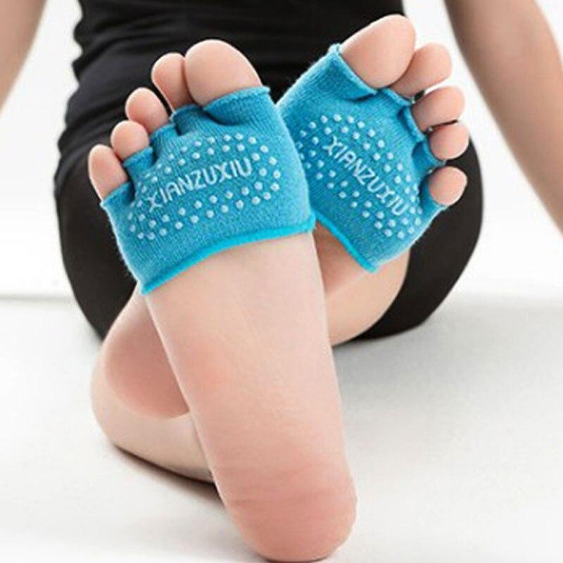 Demine Half Pads Forefoot Toe Sock Foot Half Socks Massaging Cushion Socks Silicone Anti slip Grain Invisible Inserts Cushion in Inserts Cushions from Shoes