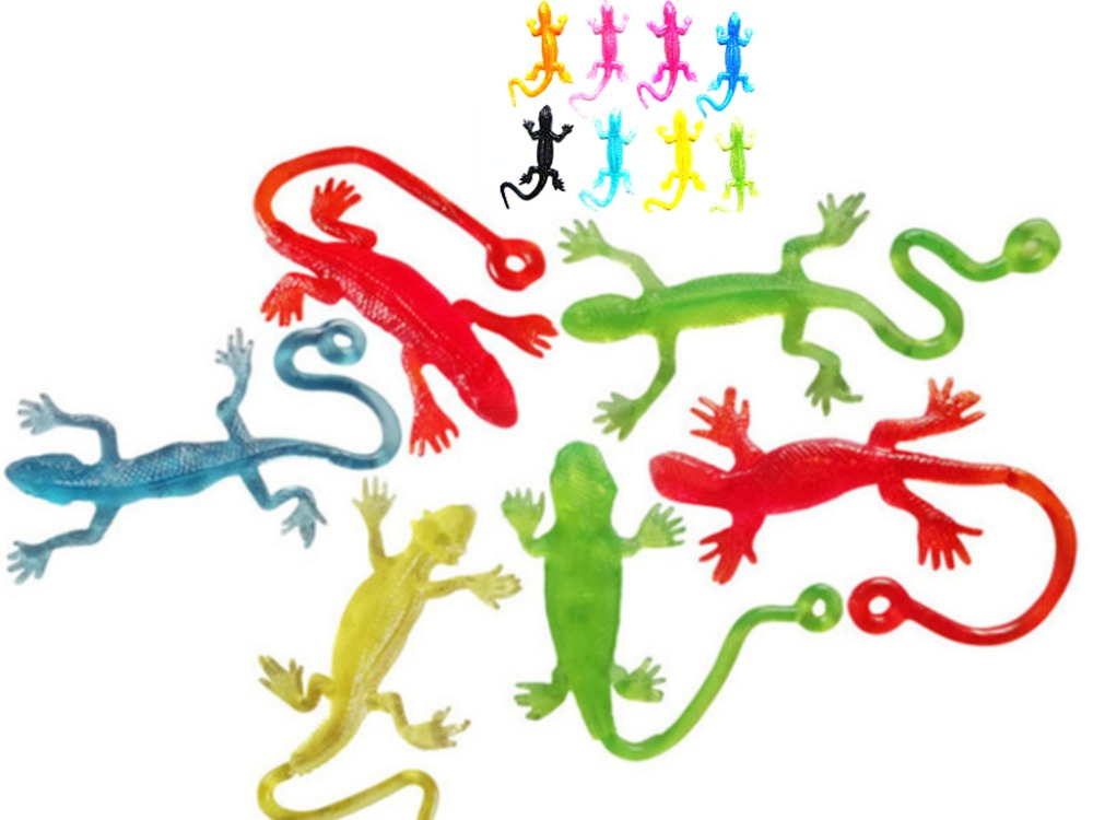 Novelty products toy Lizard animals Viscous Climbing Action Figure funny gadgets PVC for kids Anyoutdoor