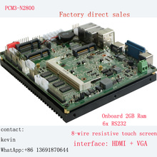 manufacturer low price Dual core 1.8GHZ mini PC mainboard Fanless 2LAN & 6COM & 6USB industrial motherboard