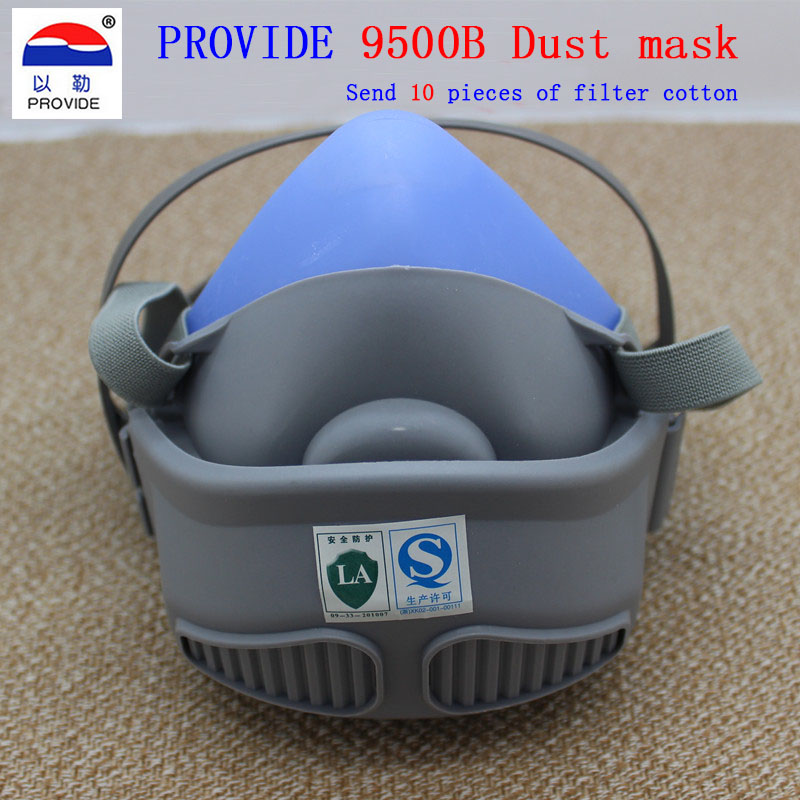PROVIDE respirator dust mask With 10 pieces of filter cotton high quality dust mask dust particulates respirator mask high quality dust mask set mask goggles 1pcs filter cotton pm2 5 respirator dust mask welding polished n95 respirator mask
