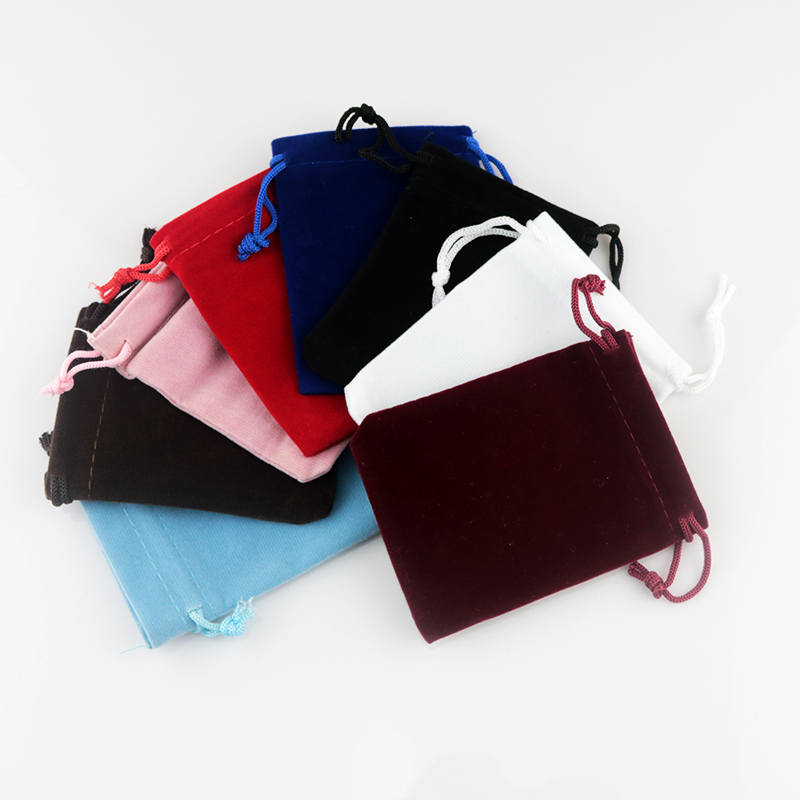 10pcs/lot 7x9cm Velvet Bags Small Jewelry Pouch Bag Christmas/Wedding Gift Jewelry Packaging Bags White Pink Black 12 Colors недорого