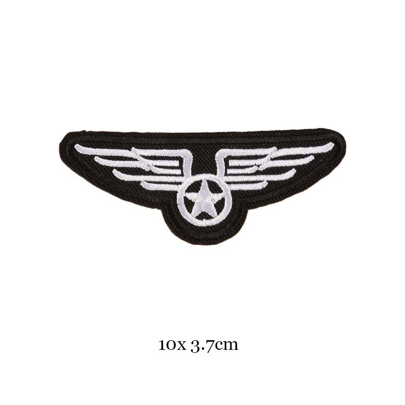 1 шт., черные, белые байкерские нашивки для одежды, железная одежда, аппликация с буквами, Череп, звезда, полосы, вышитая наклейка, круглый значок - Цвет: 41