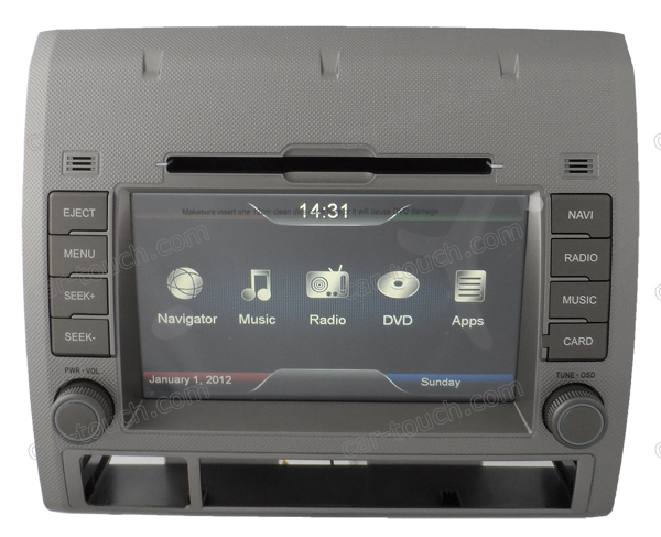 "in dash dvd/gps head unit for car Toyota Tacoma with 7"" HD digital TFT touch screen"