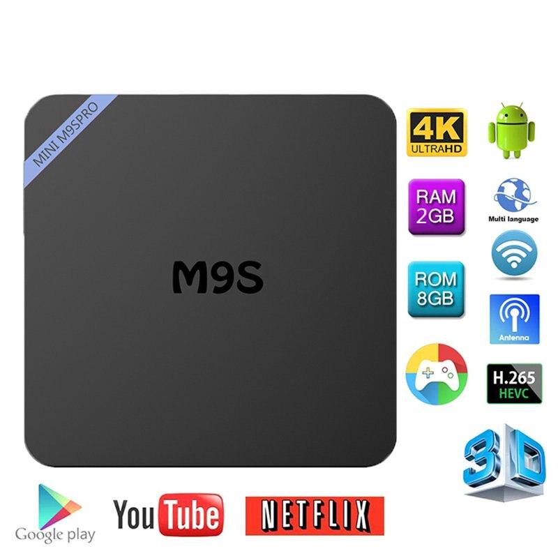 New MINI M9S Pro 2+8GB Android 6.0 TV BOX Amlogic S950X Quad-core Cortex-A53 Support Hifi HD 3840*2160 Kodi 16.1 Set-Top BOX 2016 new original xiaomi tv box 3 s pro amlogic s905 cortex a53 2 0ghz 1gb ddr3 4gb emmc5 0 android 5 0 4k 3840 x 2160