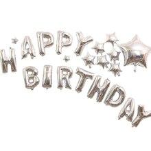 1pcs Happy Birthday Aluminium Foil  Ballon Party Decorations Kids Gifts Globos Cumpleanos Infantiles