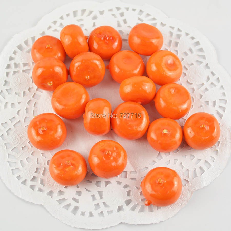 Buy free shipping mini artificial foam for Fruit orange decoration