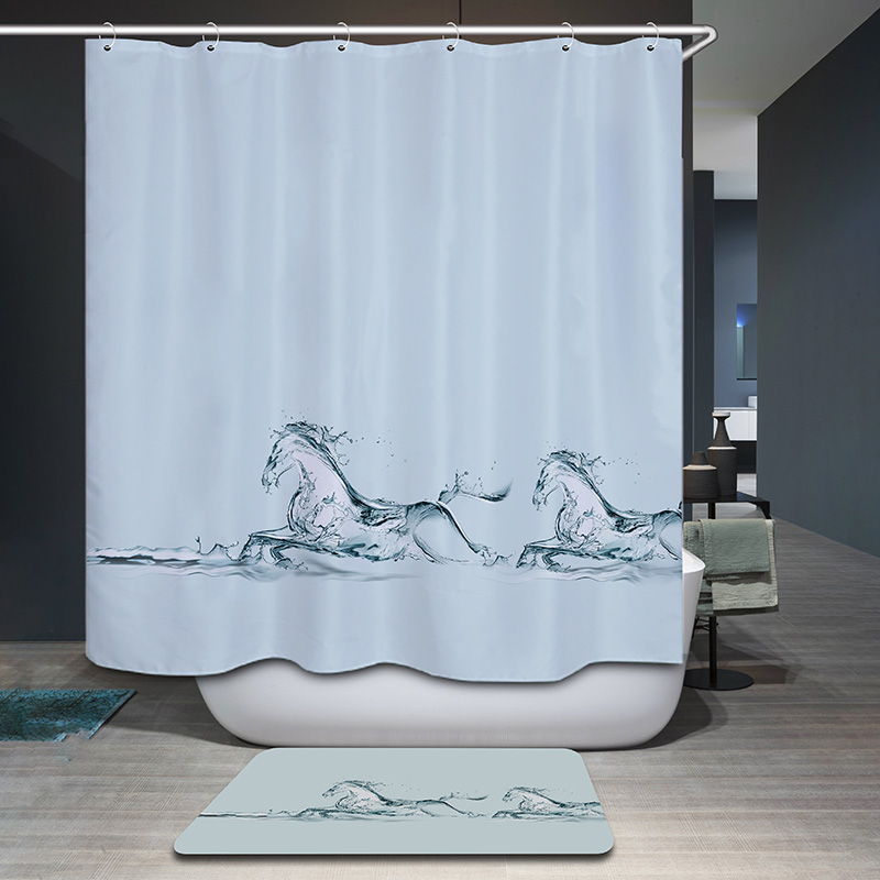 Aliexpress.com : Buy Monily Polyester Waterproof Vintage Countryside Scenic Dog  Shower Curtain Bathroom Curtains 12 Hooks Mildewproof Bath Curtain From ...