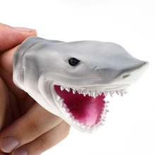 1Piece Soft Gray Shark Finger Puppet Toy for Tell Story Kids Hallowmas Gift little shark finger puppet book
