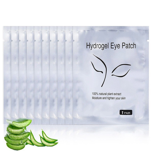 Alta calidad 50/100/200 par ojo almohadillas de Libre de pelusa de pestañas máscara de Gel Eyepads las pestañas extensión parches JLRS 2018