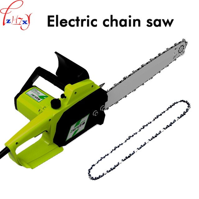 220V 1PC Household high power multi-function chain saw woodworking logging electric saw handheld electric chain saw