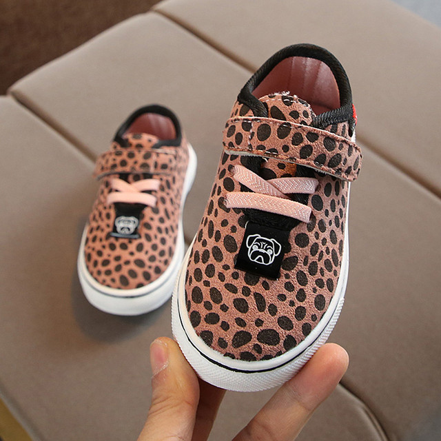 Children's sports shoes comfortable boys and girls leopard single shoes spring breathable shoes Soft Anti-slip Los zapatos #YL